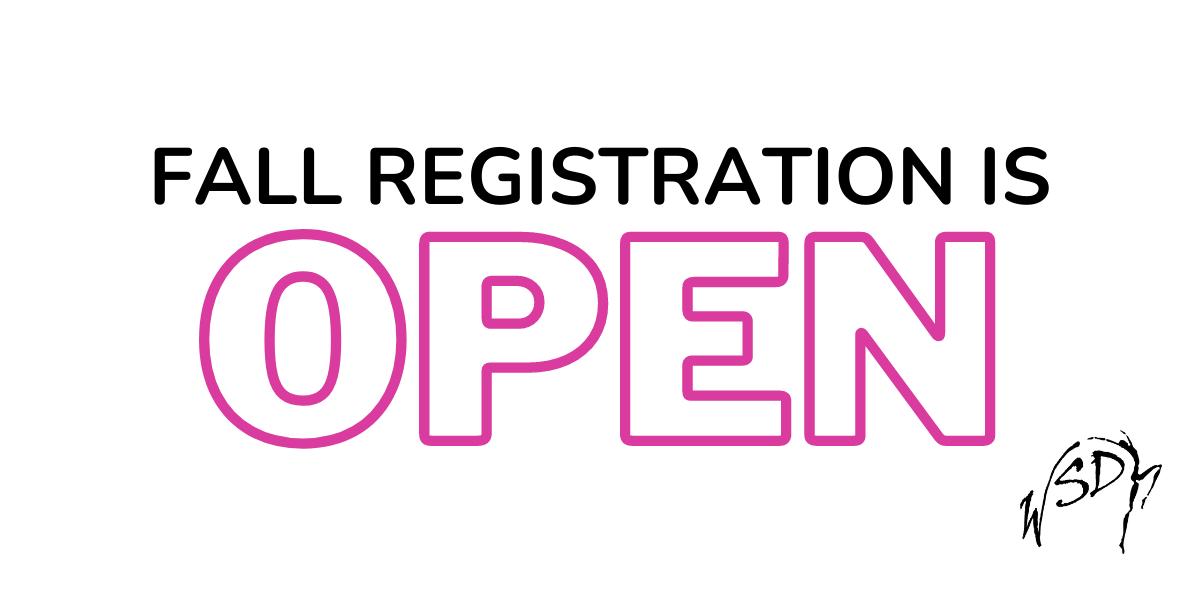 Copy of Registration Is Open